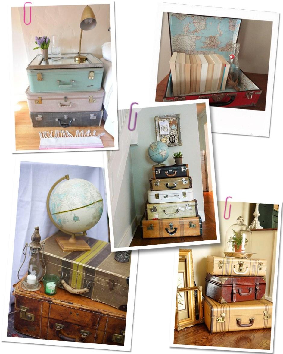 Idée de décoration voyage pour sa maison avec de vieilles valises