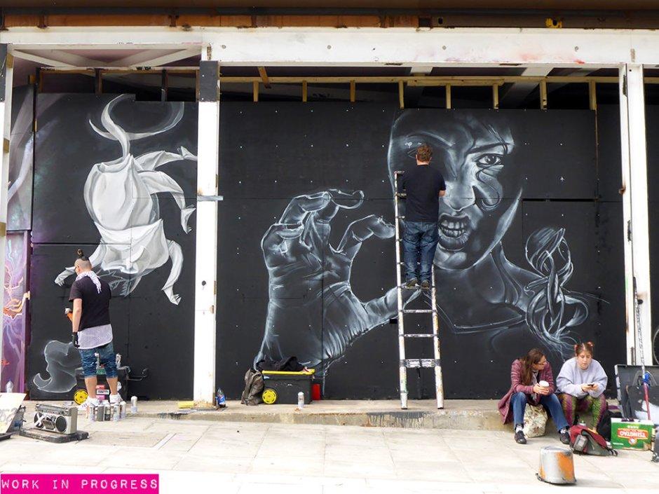 Street art à Camden Road, Work in progress....