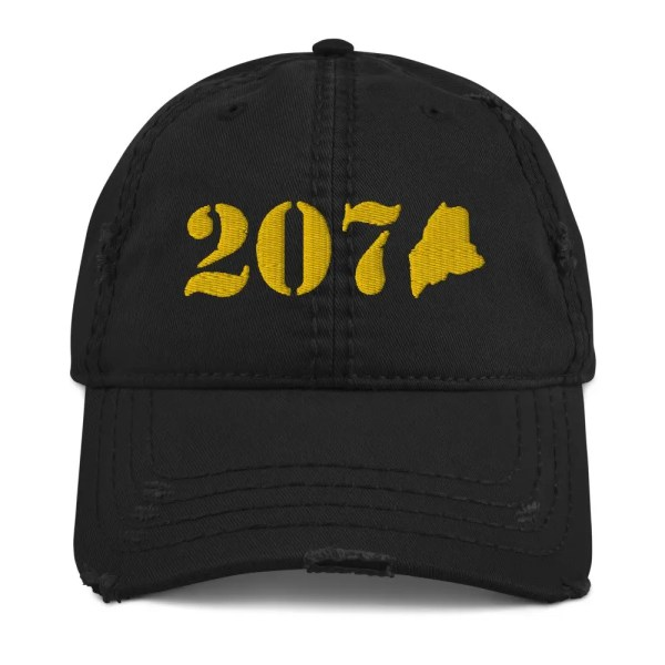 Limited Edition : 207 Maine (GOLD) - Distressed Dad Hat
