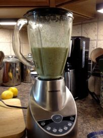 soup in the blender