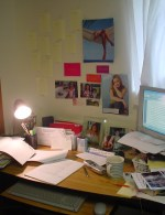 My chaotic writing desk today ...