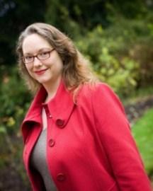 EmilyWinslow in the Magdalene Fellows' Garden, by Helen Bartlett