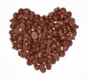 chocolate chip heart