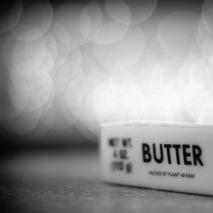 and sometimes I take pictures of butter with bokeh in the background