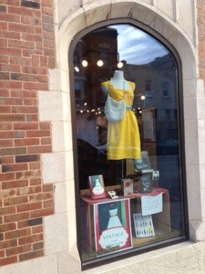 Window display for VINTAGE at Room of One's Own bookstore in Madison, Wis.