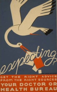 Poster promoting prenatal care