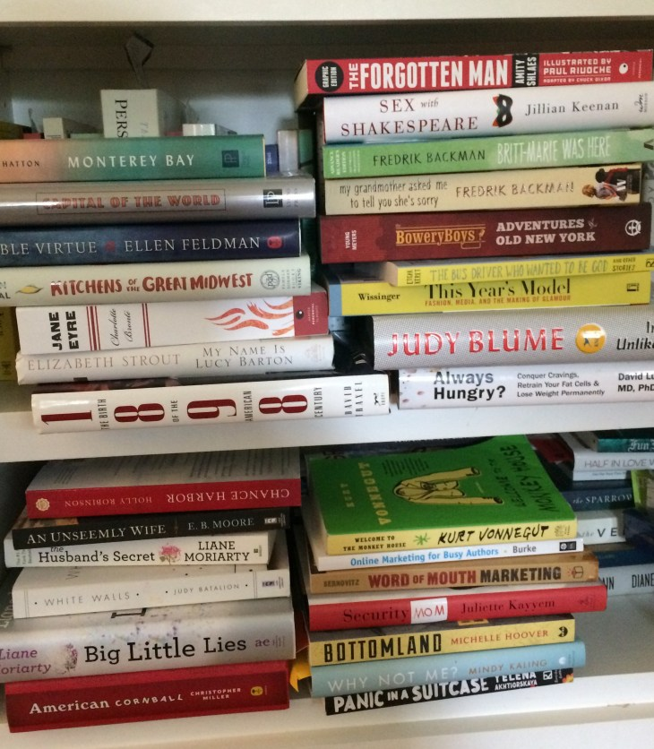 My to-read book pile