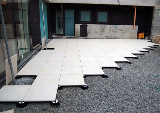 Levato Mono Porcelain paver system  Lightweight Maintenance free