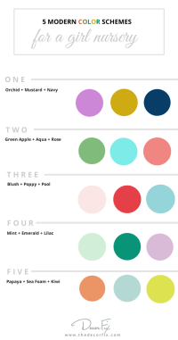 5 Color Schemes for a Girl Nursery