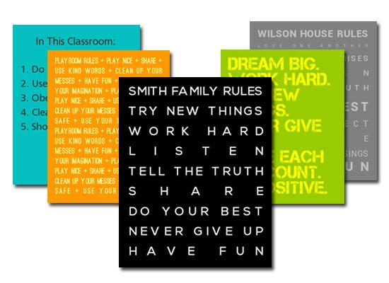 family_rules_collage