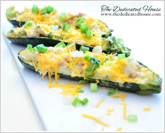 In the Kitchen:  Broccoli Chicken Zucchini Boats
