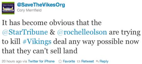 @SaveTheVikesOrg on the StarTribune's Apparent Bias