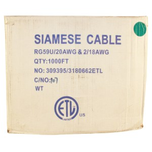 1000-Ft Siamese Coax Cable