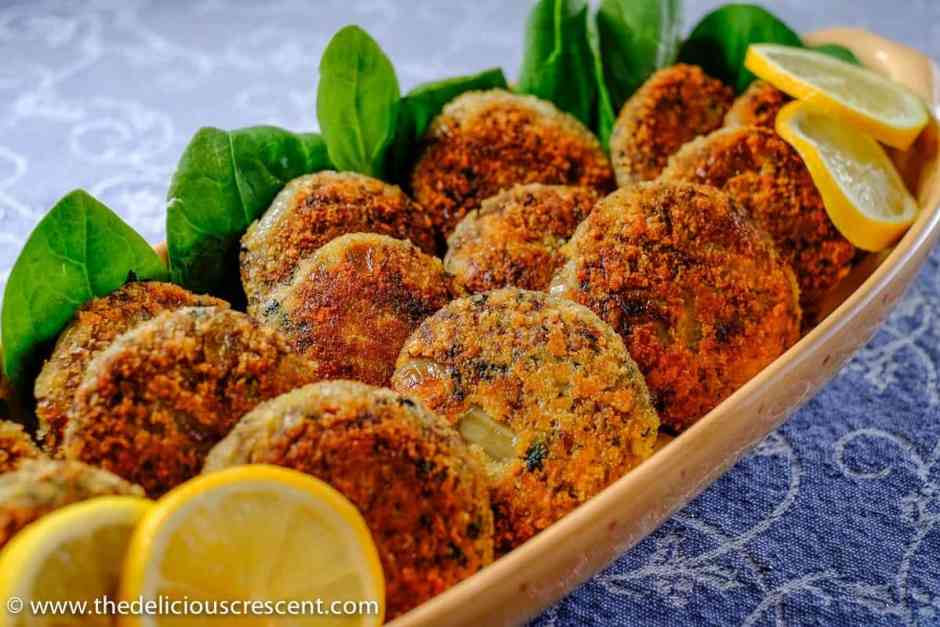 Spicy Meat and Potato Patties Shallow Fried