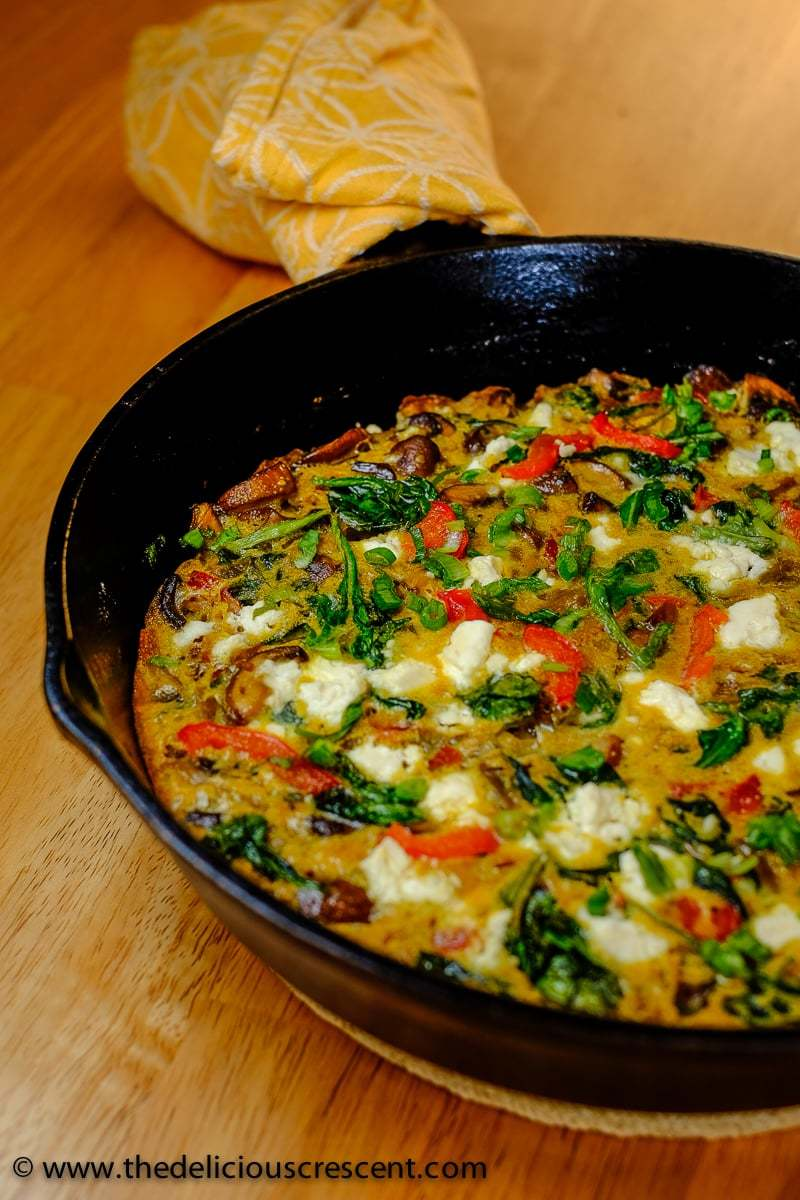 Mushroom Spinach Red Pepper KuKu