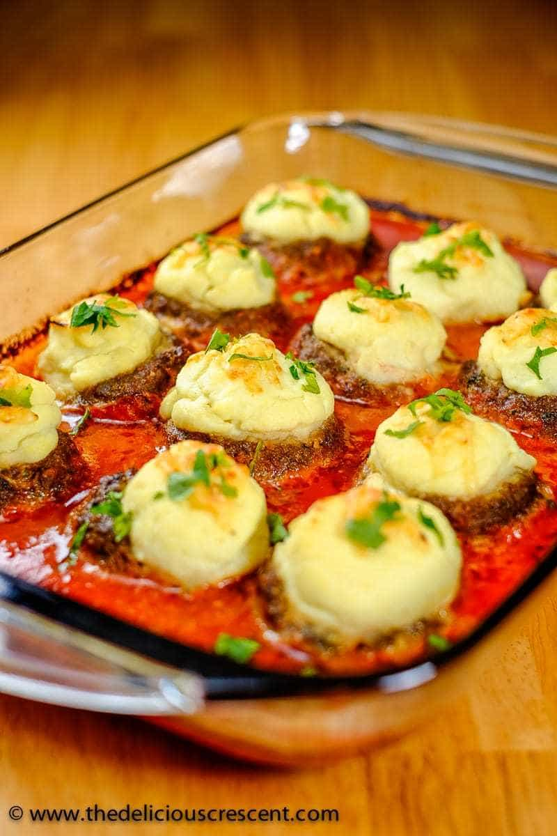 Creamy Cauliflower Stuffed Meatballs 1
