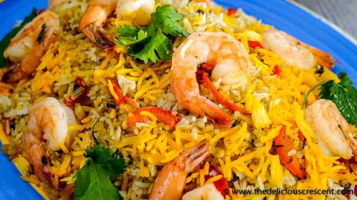 Persian Shrimp Quinoa Herb Rice