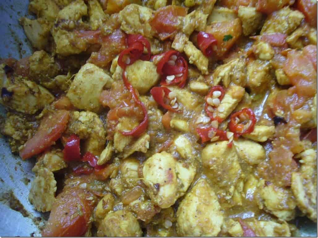 Methi Chicken Khichda Prep