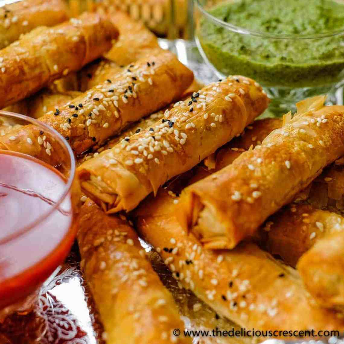 Crispy Potato Edamame Cigar Samosas - an easier and lighter baked version of a hugely popular spicy Indian snack, loaded with flavor and boosted in nutrients. These samosas freeze very well too.