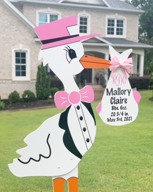 Welcome Baby Girl! – Columbia, SC stork rental