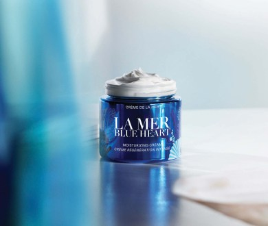 Celebrate World Oceans Day with La Mer's limited edition Blue Heart Jar