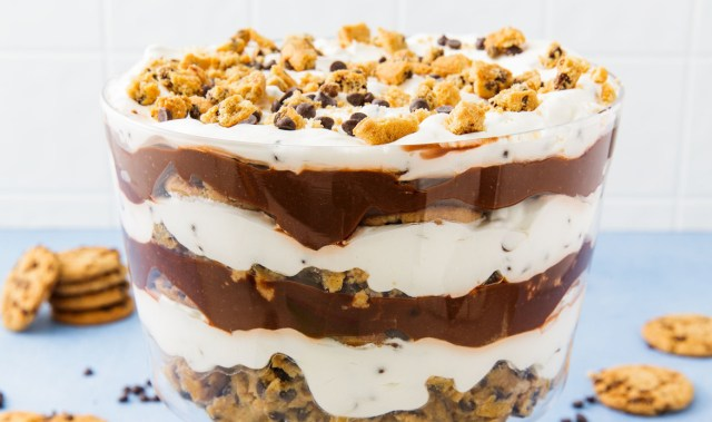 This cookie dough trifle recipe gives a wholesome  spin to the much loved dessert
