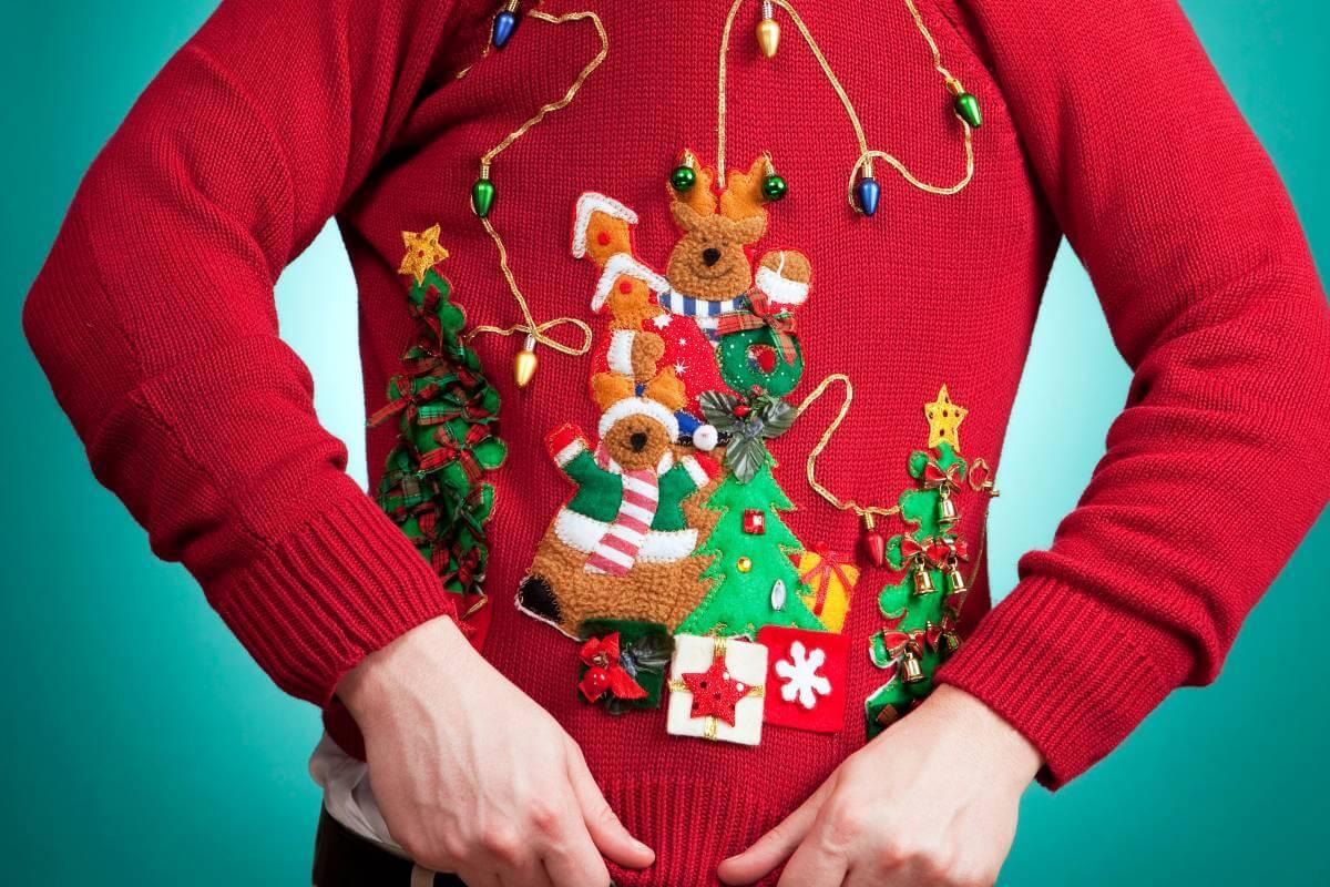 Imagini pentru ugly christmas sweaters dance off