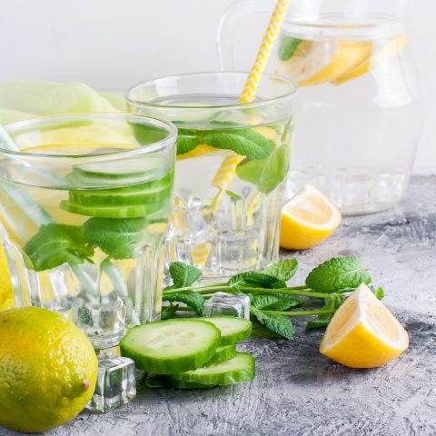 Lemon, Cucumber, and Mint detox water