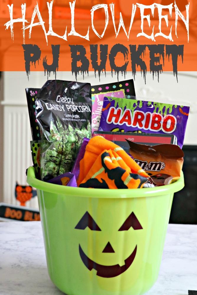 Halloween Pajama Bucket