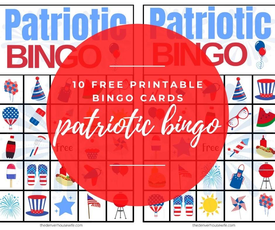 Free Patriotic Bingo Cards Printable for Kids