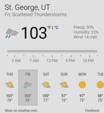 Georgefest Forecast