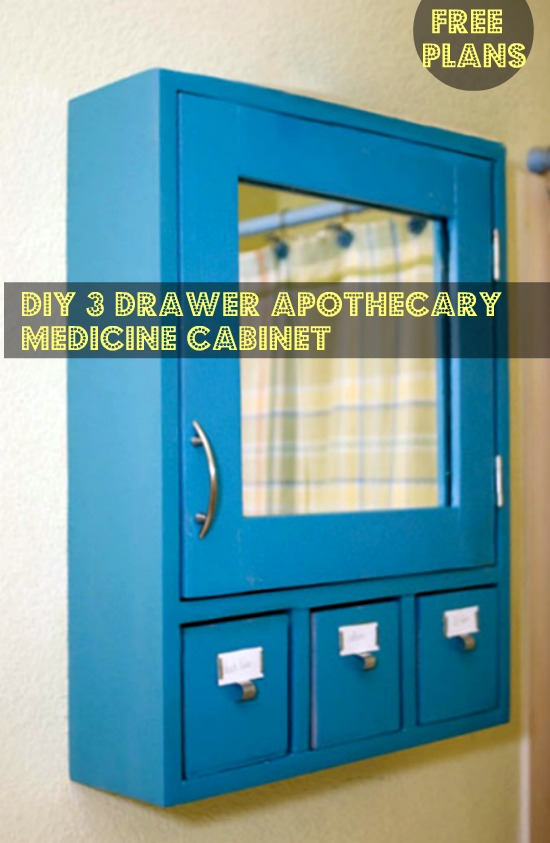 Free Diy Furniture Plans To Build A 3 Drawer Medicine Cabinet The Design Confidential