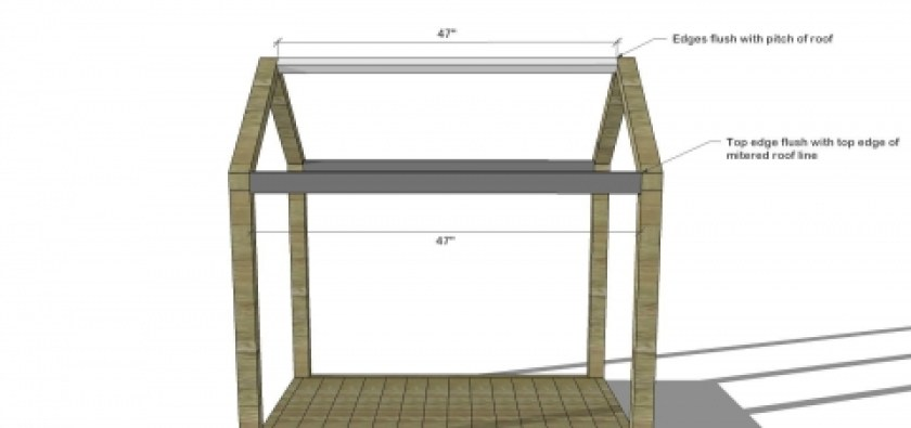 You Can Build This! The Design Confidential DIY Furniture Plans // How to Build a Toddler Sized House Bed with Platform + Chimney