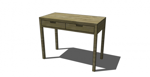 We Covered The Tower Here And The One Drawer Pocket Desk Here, And Nowu2026.  The Two Drawer Desk! This Would Be A Fabulous Entryway Console Table As  Well, ...