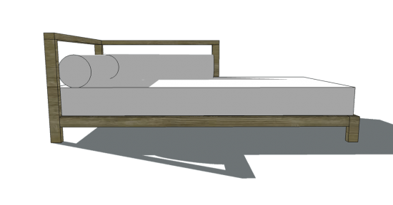 Elegant This Piece Speaks For Itself But Just In Case It Doesnu0027tu2026itu0027s A  Modification Of The Popular 2×2 One Armed Daybed. This Plan Allows For A  Standard Full Sized ...