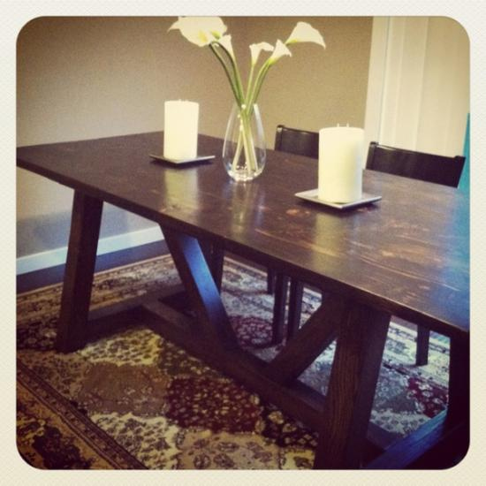 You Can Build This! Easy DIY Furniture Plans from The Design Confidential with Complete Instructions on How to Build a Provence Beam Dining Table via @thedesconf