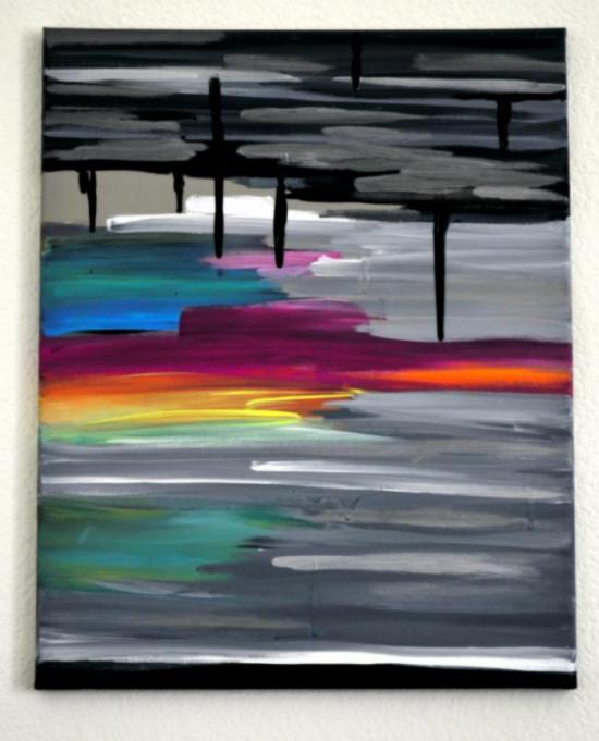 Easy Diy Abstract Sunset Painting The Design Confidential