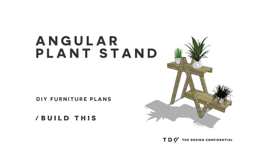 You Can Build This! Easy Outdoor DIY Plans from The Design Confidential Free DIY Furniture Plans // How to Build An Angular Plant Stand via @thedesconf