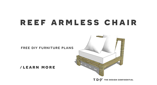 Free DIY Furniture Plans // How To Build An Armless Chair For The Reef  Outdoor