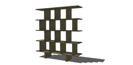 You Can Build This! Easy DIY Furniture Plans from The Design Confidential with Complete Instructions on How to Build an Asian Inspired Bookshelf via @thedesconf