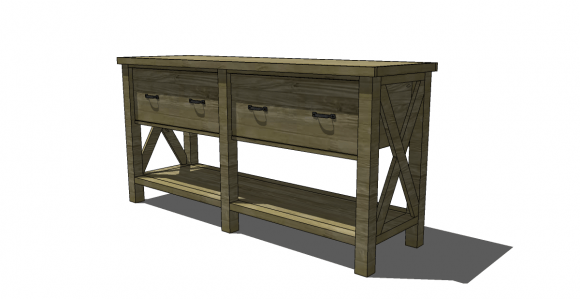 Free Diy Furniture Plans To Build A Pb Inspired Belmont