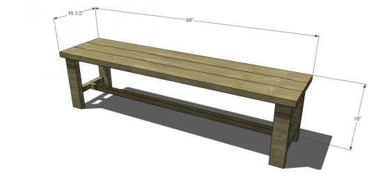 Free Diy Furniture Plans To Build A Francine Dining Bench