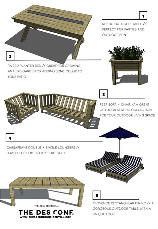 Top 10 Most Popular DIY Outdoor Furniture Plans - The Design