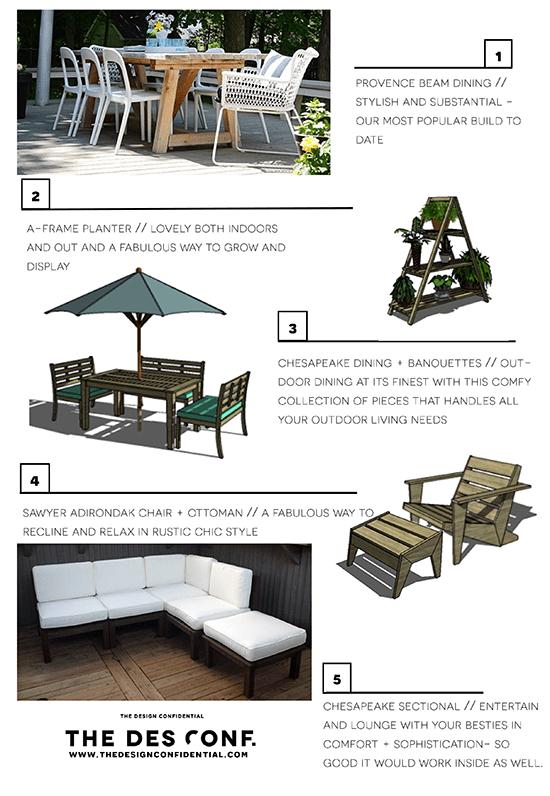 Top 20 DIY Outdoor Furniture Plans 6 Through 10