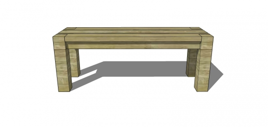 Free Woodworking Plans To Build A Big Sur Coastal Collection 48 Inch Bench The Design Confidential
