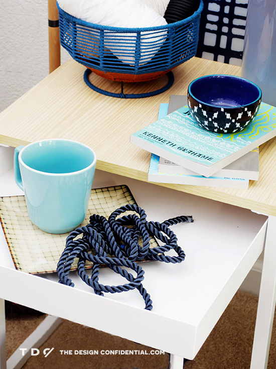 Close Up of Blue Retro Room for Nesting // One Piece with Three Different Style Personalities