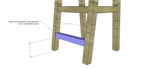 Chair Lower Stretcher for The Design Confidential Free DIY Furniture Plans: How to Build a Children's Two Tone Chair