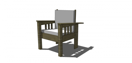 You Can Build This! Easy DIY Furniture Plans from The Design Confidential with Complete Instructions on How to Build a Morris Chair via @thedesconf