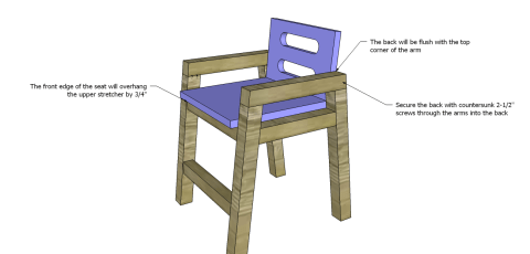 Chair Seat Back for The Design Confidential Free DIY Furniture Plans: How to Build a Children's Two Tone Chair