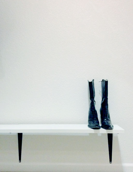Lower Shelf Installation for The Design Confidential DIY Just Add Shelves Easy DIY Shelving For Stylish Shoe Storage